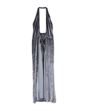 Платье длиной 3/4 FRANCESCA PICCINI. Цвет: свинцово-серый