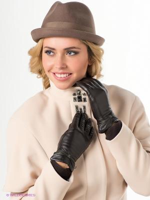 Перчатки Labbra. Цвет: коричневый, темно-синий