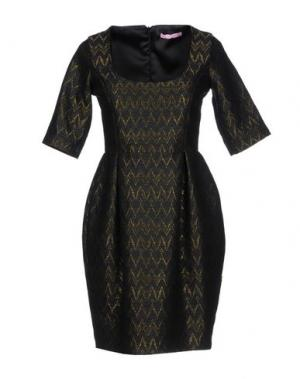 Короткое платье FRANCESCA FERRANTE. Цвет: черный