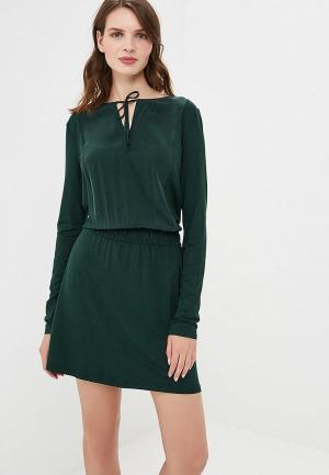 Платье Sisley. Цвет: зеленый