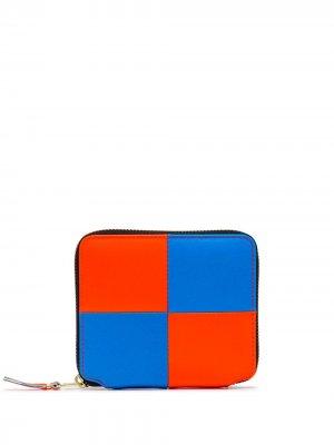 Wallet Fluo Square zip-around leather Comme Des Garçons. Цвет: синий