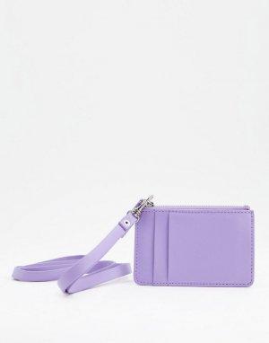 Фестивальный кошелек на шею из искусственной кожи сиреневого цвета -Фиолетовый цвет ASOS DESIGN