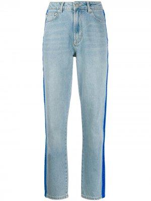 Tara velvet logo tape jeans Fiorucci. Цвет: синий