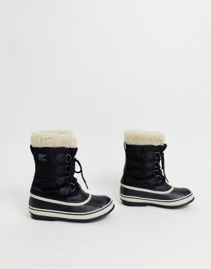 Черные непромокаемые лыжные сапоги с подкладкой из микрофлиса Carnival-Черный Sorel