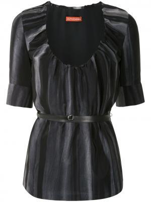 Блузка Nika с поясом Altuzarra. Цвет: черный