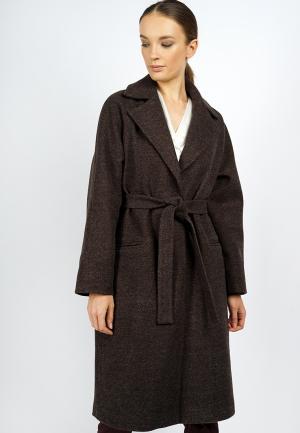 Пальто Burlo. Цвет: коричневый