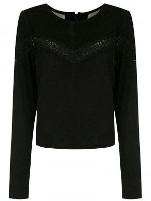 Укороченная блузка Clé. Цвет: черный