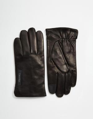 Кожаные перчатки Standalone 4 Calvin Klein. Цвет: черный