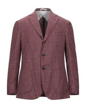 Пиджак BARBA Napoli. Цвет: красно-коричневый