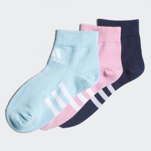 Три пары носков Ankle Performance adidas. Цвет: розовый