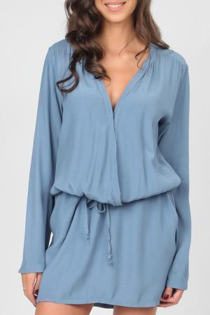 Платье Carla Giannini. Цвет: синий