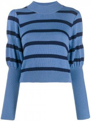 Вязаный свитер с объемными рукавами Derek Lam 10 Crosby. Цвет: синий