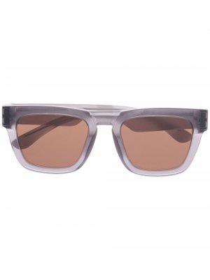 Солнцезащитные очки в квадратной оправе Mykita. Цвет: серый