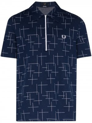 Рубашка Cross Hatch с логотипом Fred Perry. Цвет: синий