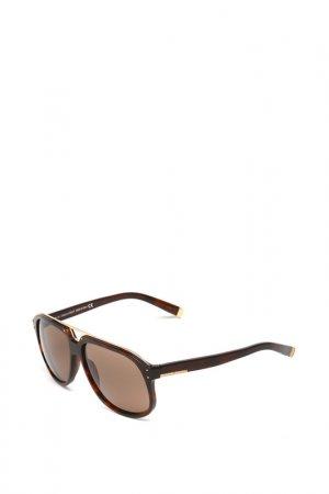 Очки солнцезащитные с линзами DSQUARED. Цвет: 52e коричневый, золотистый