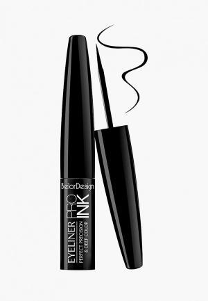 Подводка для глаз BelorDesign PRO INK. Цвет: черный