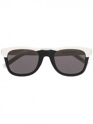 Солнцезащитные очки в квадратной оправе Saint Laurent Eyewear. Цвет: белый