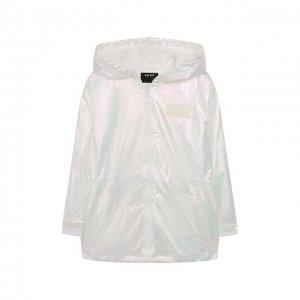 Ветровка с капюшоном DKNY. Цвет: белый