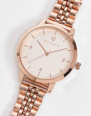Часы с браслетом из нержавеющей стали -Золотой Bellfield