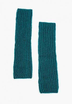 Митенки United Colors of Benetton. Цвет: бирюзовый