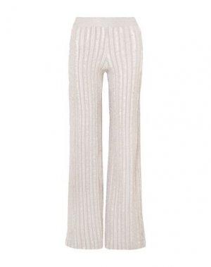 Повседневные брюки HERVÉ LÉGER. Цвет: светло-серый
