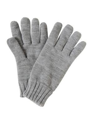 Перчатки TOM TAILOR. Цвет: серый меланж