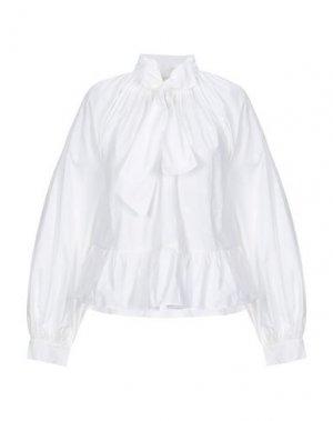Pубашка ULLA JOHNSON. Цвет: белый
