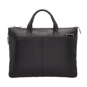 Кожаная деловая сумка для ноутбука Bolton Black