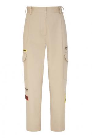 Трикотажные брюки карго Bumblebee x Chapurin. Цвет: бежевый