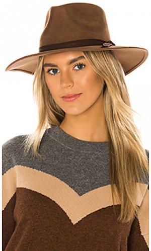Шляпа федора peyton ale by alessandra. Цвет: коричневый