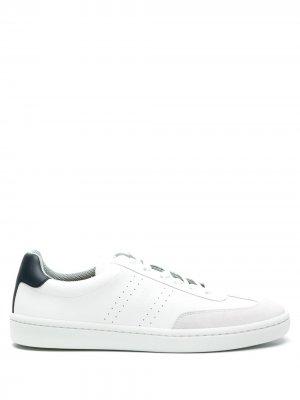 Кеды на шнуровке BOSS. Цвет: белый