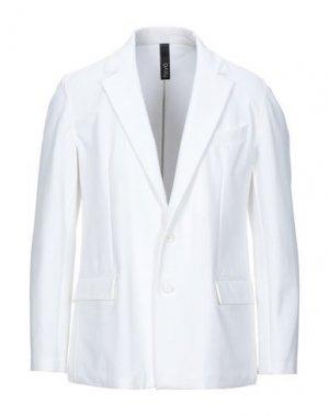 Пиджак HEVÒ. Цвет: белый