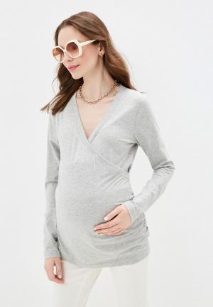 Лонгслив Gap Maternity. Цвет: серый