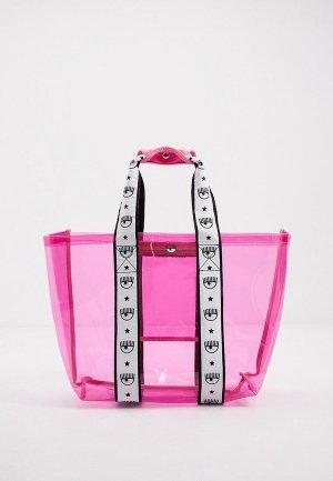 Сумка Chiara Ferragni Collection. Цвет: розовый