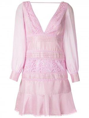 Короткое платье Francesa Otilia Martha Medeiros. Цвет: розовый