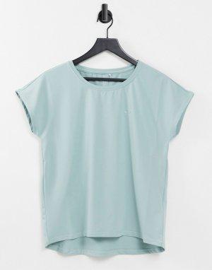 Спортивная футболка свободного кроя серого дымчатого цвета с короткими рукавами Alibree-Серый Only Play