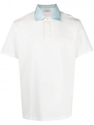 Рубашка поло с вышитым логотипом LANVIN. Цвет: белый