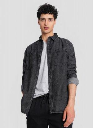 Базовая джинсовая рубашка O`Stin. Цвет: черный