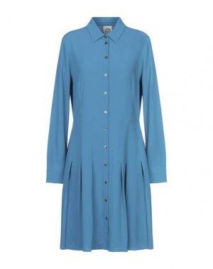 Платье до колена ATTIC AND BARN. Цвет: лазурный