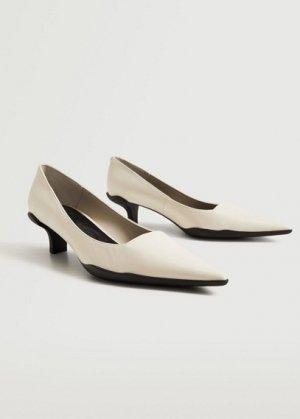 Кожаные туфли на каблуке - Teresa Mango. Цвет: белый