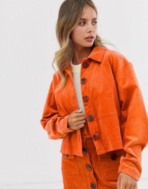 Вельветовая куртка из комплекта Danijo-Оранжевый The East Order