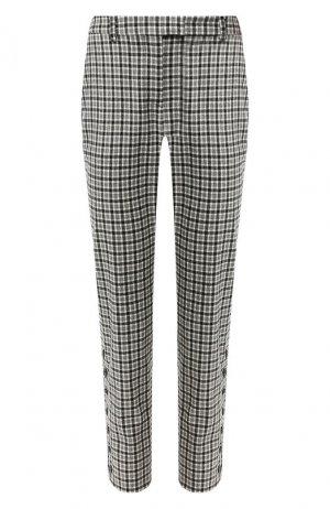 Шерстяные брюки Altuzarra. Цвет: чёрно-белый
