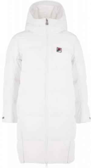 Пальто утепленное для девочек , размер 158 FILA. Цвет: белый