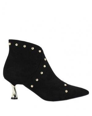 Полусапоги и высокие ботинки FRACOMINA. Цвет: черный