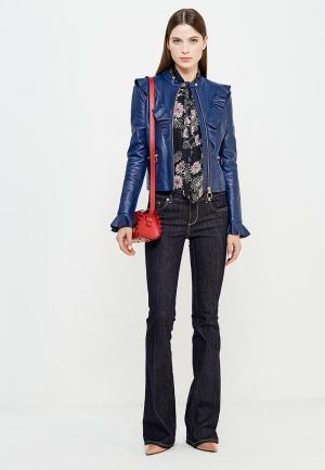 Куртка кожаная Pinko. Цвет: синий