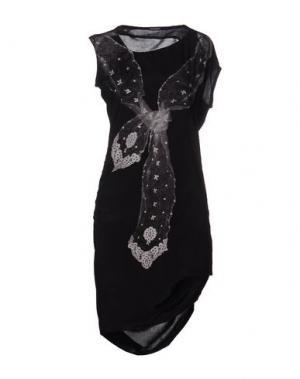 Короткое платье INSIDEOUT. Цвет: черный