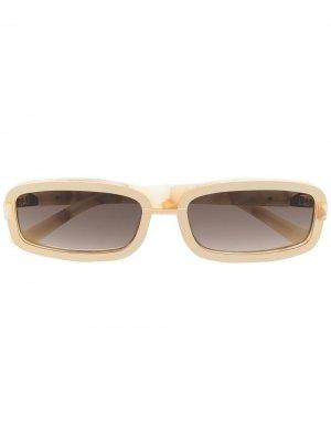 Солнцезащитные очки из коллаборации с Y/Project Linda Farrow. Цвет: золотистый