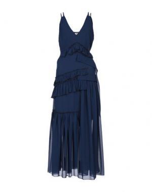 Длинное платье AQUILANO-RIMONDI. Цвет: темно-синий