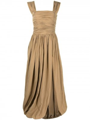 Платье макси Charley Altuzarra. Цвет: коричневый