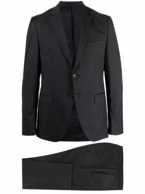 Костюм с однобортным пиджаком Boss Hugo. Цвет: серый
